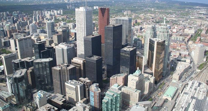 Торонто из телебашни